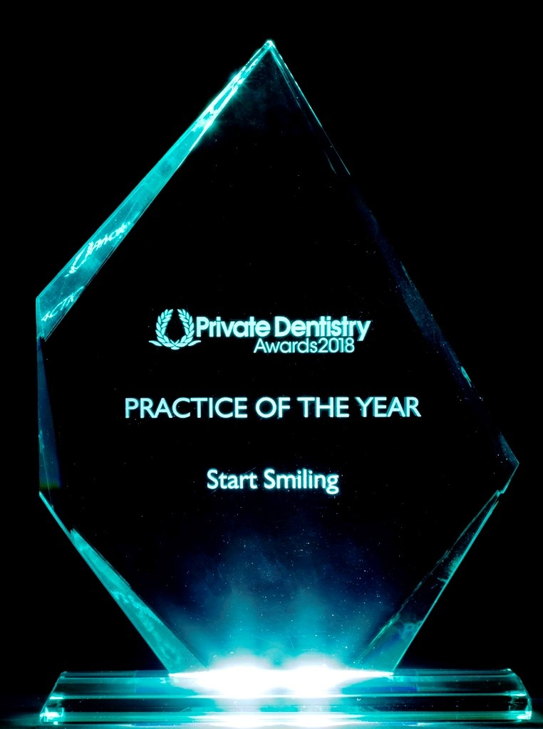 Start Smiling: Best Dentist in Essex Practice-of-the-year-UK-blue