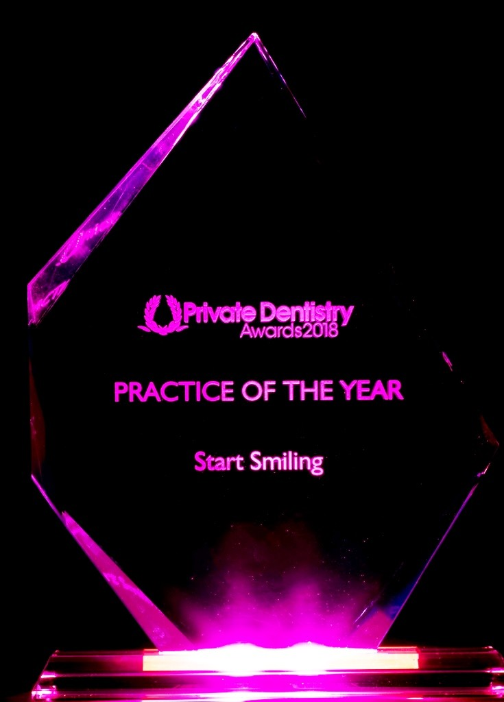 Start Smiling: Best Dentist in Essex Practice-of-the-year-Uk-purple