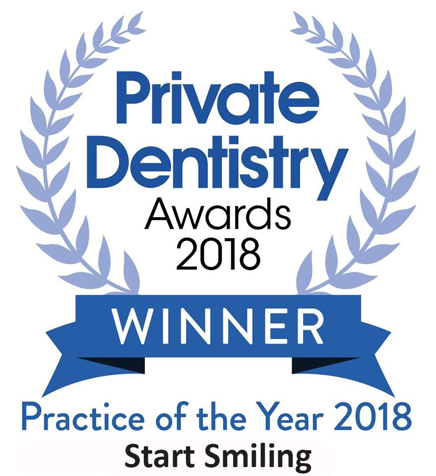 Start Smiling: Best Dentist in Essex winner-practice-of-the-year-start-smiling